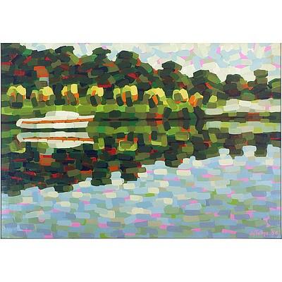 Stan De Teliga (1924-1998) Bayview Shore 1980, Acrylic on Canvas