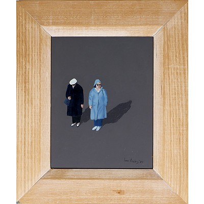 Leon Roubos (1959-1998) Two Women, Oil on Board