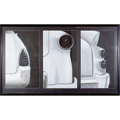 David Watt Tails Charcoal and Acrylic Circa 1995