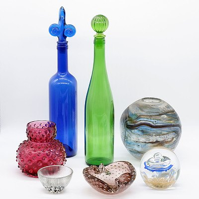 Group of Various Studio and Art Glass