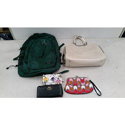 Bulk Lot of Brand New Handbags, Backpacks, and Purses