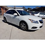 3/2012 Holden Cruze CD JH MY12 4d Sedan White 1.4L