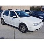 4/2002 Volkswagen Golf 1.6 SE  5d Hatchback White 1.6L