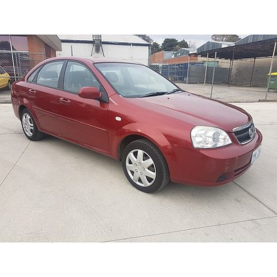 9/2006 Holden Viva  JF 4d Sedan Red 1.8L