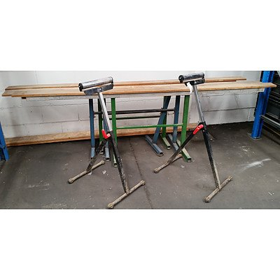 Long Saw Horse and Rollers