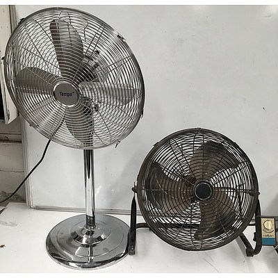 Two Small Industrial Grade Fans