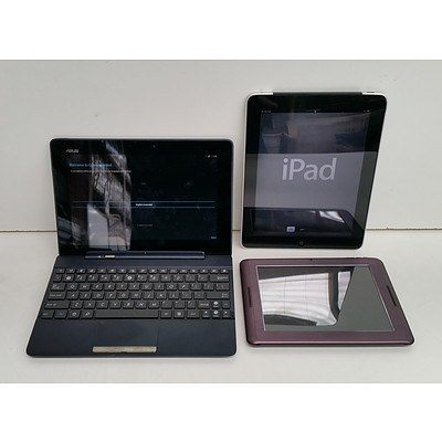 Apple A1337 First Generation iPad, Hyundai S800 & Asus TF300T Tablets