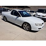 5/2007 Holden Commodore  VZ Utility White 3.6L
