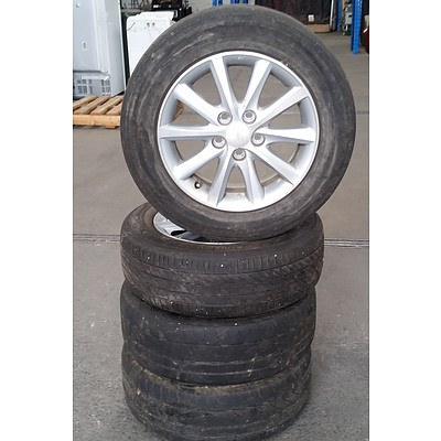 Set of 4 Toyota 16inch Rims with Tyres