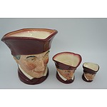 Three Royal Doulton Graduating The Cardinal Toby Jugs