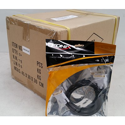 Approximately 450 x Brand New Konix 1 Metre DVI-D to DVI-D Cables - RRP Over $12,000