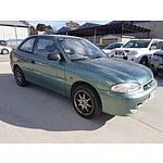3/1997 Hyundai Excel Sportz Sprint  3d Hatchback Green 1.5L