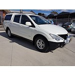 10/2011 Ssangyong Actyon Sports (4x4) A200S Double Cab Utility White 2.0L
