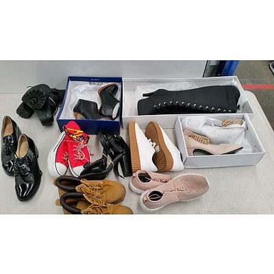 Lot of Ten Brand New Pairs of Women's Shoes - RRP $350