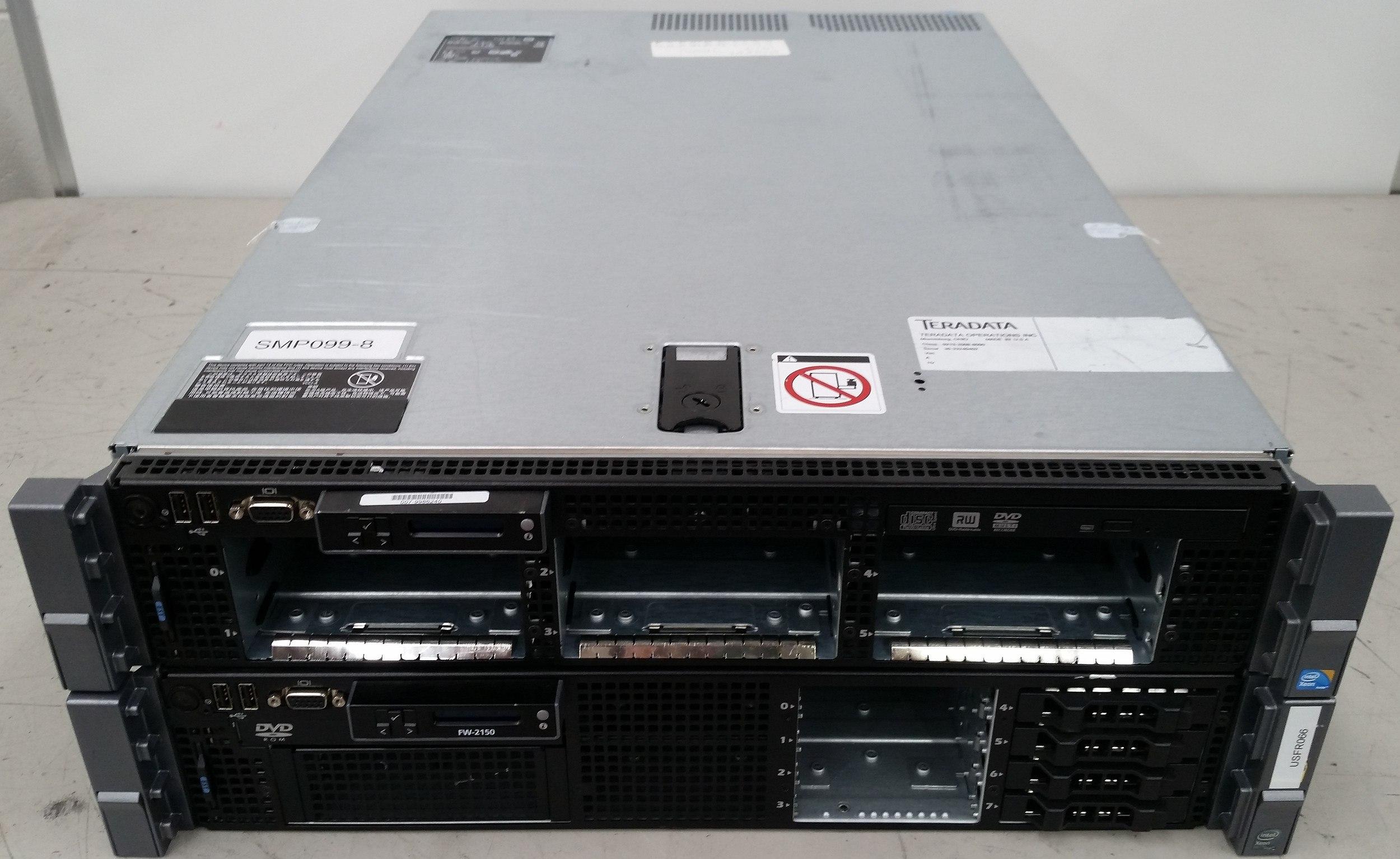 McAfee FW-2150 & Teradata SMP099-8 (Dell R710) 2 RU Servers