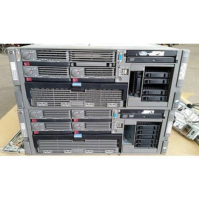 Hp Proliant DL580 G4 Quad Dual-Core Xeon 7140M 3.4GHz 4 RU Servers - Lot of 2