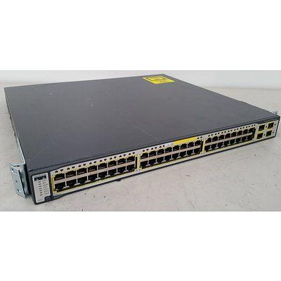 Cisco WS-C3750G-48TS-S V02 Gigabit Switch