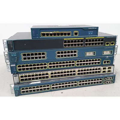 Cisco Managed Switches - Lot of 6