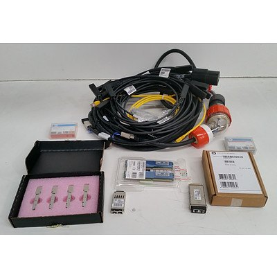 Bulk Lot of IT Equipment & Accessories - Cables, Transceivers, RAM & Software
