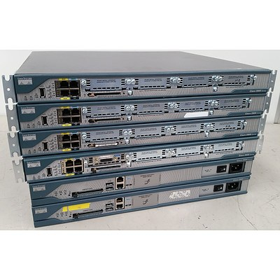 Cisco 2800 Series Modular Routers - Lot of 6