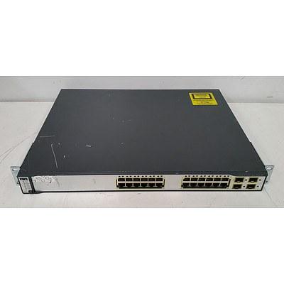 Cisco Catalyst 3750G Series PoE-24 24-Port Gigabit Managed Switch