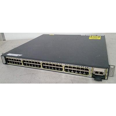 Cisco WS-C3750E-48TD-S V03 Gigabit Switch
