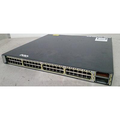 Cisco WS-C3750E-48TD-S V05 Gigabit Switch
