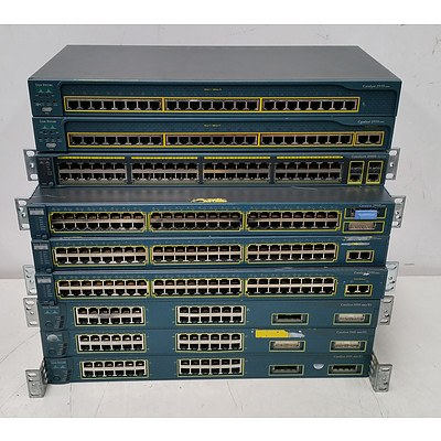Cisco Catalyst 24-Port & 48-Port Fast Ethernet Switches - Lot of Nine