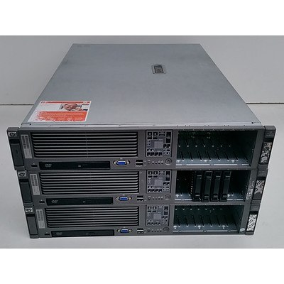 HP ProLiant DL380 G5 Dual Dual-Core Xeon (5130/5140) 2.00-2.33GHz 2 RU Server - Lot of Three