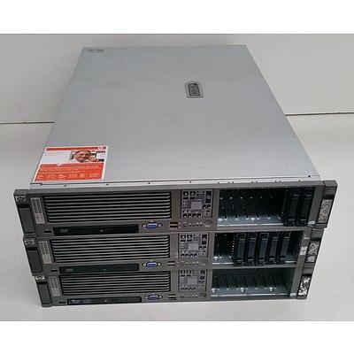 HP ProLiant DL380 G5 Dual Dual-Core Xeon (5140) 2.33GHz & Dual Quad-Core Xeon (E5345) 2.33GHz 2 RU Servers - Lot of Three