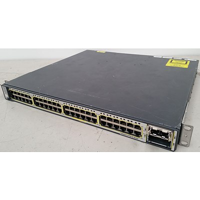 Cisco WS-C3750E-48TD-S V01 Gigabit Switch