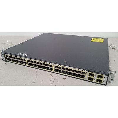 Cisco WS-C3750G-48TS-E V02 Gigabit Switch
