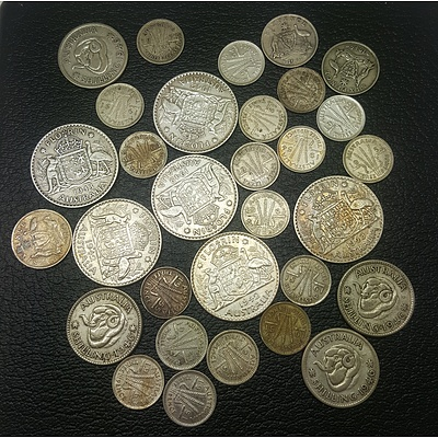 Assorted Australian Pre-Decimal Coins