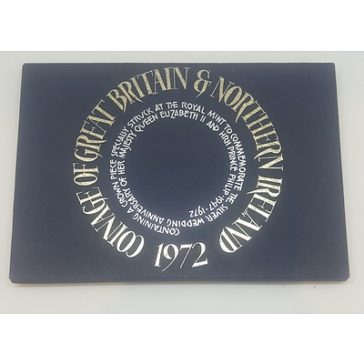 1972 Coinage of Gt Britain and Northern Ireland Uncirculated Coin Set