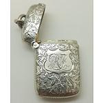 1894 English Sterling Silver Vester Case