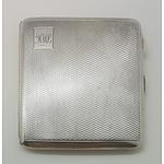 1932 English Sterling Silver Cigarette / Card Case 117grams
