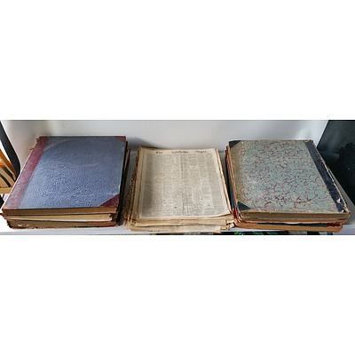 Group of Antique Bound and Unbound Newspapers