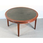 Vintage Mahogany Coffee Table with Gilt Tooled Leather Top