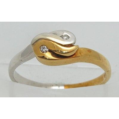 18ct Two-Tone Gold Diamond Ring