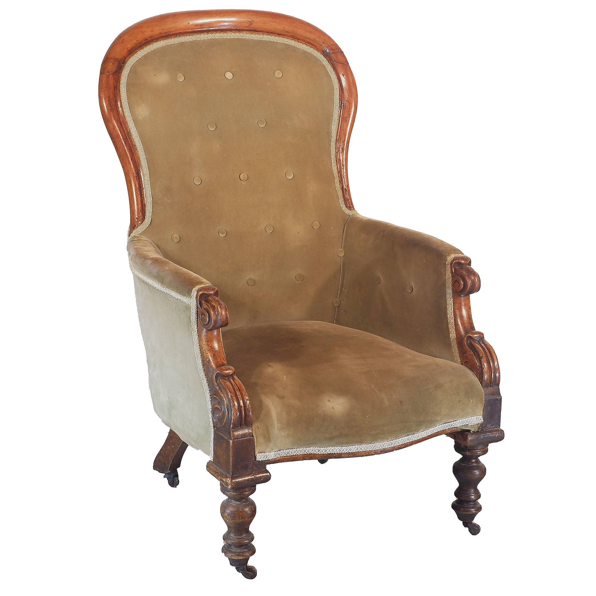 'Early Victorian Salon Chair Circa 1850'