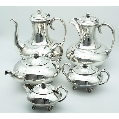 Five Piece Imperial Silver Plate Coffee and Tea Service