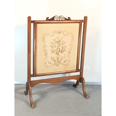 Tapestry Upholstery Fire Screen