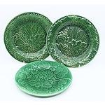 Six Antique Majolica Plates