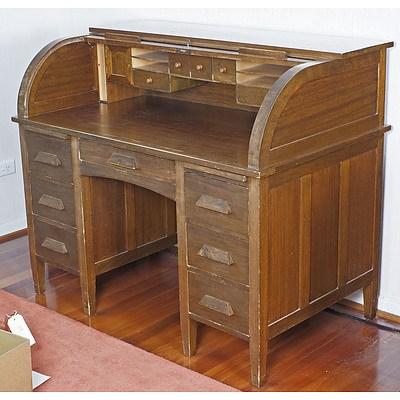Maple Roll Top Desk