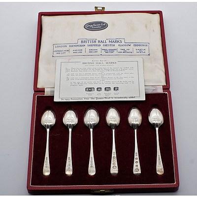 Unusual Set of British Hall Marks Coffee Spoons