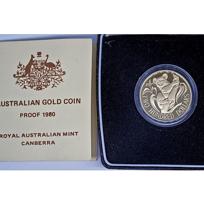 Australian 1980 Gold $200 Proof Coin