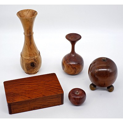 Group of Artisan Wood Items