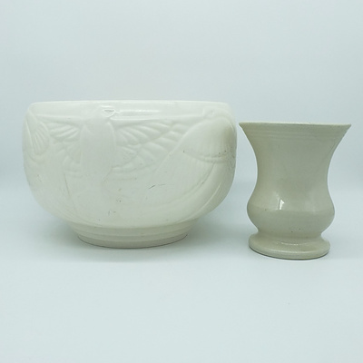 Spode Jardiniere and A Bennett Pottery Vase