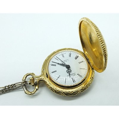 Ladies Gold Plated Felicia 17 Jewel Incabloc Fob Watch