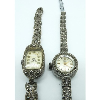 Ladies Datex 17 Jewel Incabloc Marquiste Band and Another Marquiste Band Wrist Watch